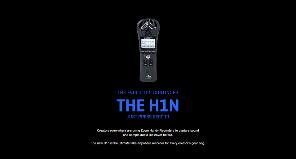 ZOOM H1N Handy Recorder Digital Camera Audio Recorder Stereo Microphone for Interview SLR Recording Microphone Pen with gifts